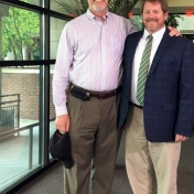 Dr. Gill Hunter with his internship mentor, Dr. John Wade, Dean, College of Arts and Sciences