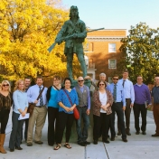 EKU historical walking tour with Mr. Charles Hay.