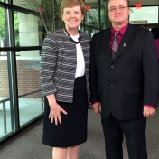 Dr. John Taylor with his mentor, Dr. Jana Vice, Senior Vice President of Academic Affairs & Provost
