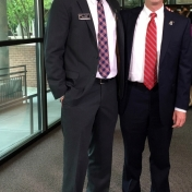 Mark Howard with his internship mentor, Barry Poynter, Vice President of Finance & Administration
